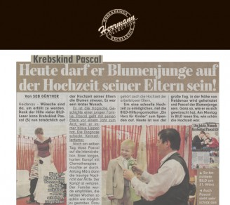 Uwe Herrman ist Brautausstatter der Eltern des krebskranken Pascal (5) und ermöglicht so dessen letzten Wunsch, die Hochzeit seiner Eltern zu erleben - Hochzeitsmode Dresden - Uwe Herrmann