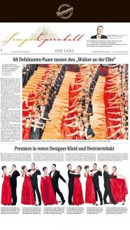Der Designer Uwe Herrmann entwarf die Kleider, das Diadem und den Schmuck - Hochzeitsmode Dresden - Uwe Herrmann