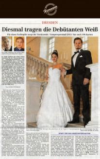 Modedesigner Uwe Herrmann hat die Farbigkeit der Debütanten-Kleider reduziert - Hochzeitsmode Dresden - Uwe Herrmann