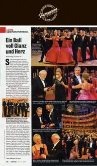 Seine Frau Veronika Tillich lächelte an seiner Seite bis fünf Uhr früh in einem Hingucker-Kleid des Desdner Designers Uwe Herrmann, der auch in diesem Jahr die Debütantenkleider in Kirschblüten-Rot entworfen hatte - Hochzeitsmode Dresden - Uwe Herrmann