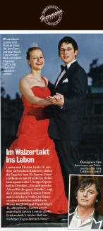 Designer Uwe Herrmann aus Dresden hat das rote Taftkleid kreiert - Hochzeitsmode Dresden - Uwe Herrmann