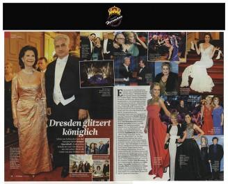 Modedesigner Uwe Herrmann mit Stanislaw und Veronika Tillich - Hochzeitsmode Dresden - Uwe Herrmann
