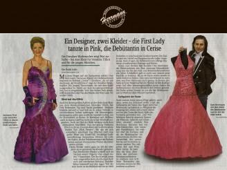 Der Dresdner Modemacher zeigt Mut zur Farbe – bei dem Kleid für Veronika Tillich und für die jungen Mädchen - Hochzeitsmode Dresden - Uwe Herrmann