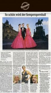 Die Kleider sind diesmal tatsächlich eine überraschung: kein Rot, wie bisher, sondern ein strahlendes Pink. Schöpfer Uwe Herrmann spricht lieber von frischem cerise oder kirschblütenfarben - Hochzeitsmode Dresden - Uwe Herrmann