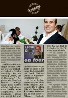 Dreharbeiten mit Uwe Herrmann (vor und hinter der Kamera) für Weddingplaner Pro Sieben - Hochzeitsmode Dresden - Uwe Herrmann