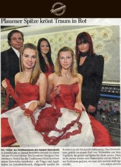 Die Kleider der Debütantinnen des Semper Opernballs in Dresden am 20. Januar bestehen erstmals zu einem Teil aus Plauener Spitze - Hochzeitsmode Dresden - Uwe Herrmann