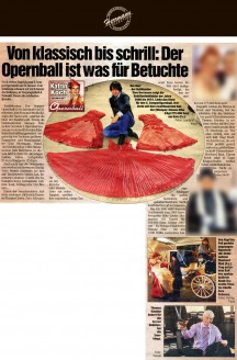 Einzig die Debütantinnen können frohlocken: Seit dem 3. Opernball tanzen sie in einheitlich roten Kleidern den Eröffnungswalzer – angefertigt von Sachsens größtem Festmoden- und Brautausstatter Uwe Herrmann - Hochzeitsmode Dresden - Uwe Herrmann