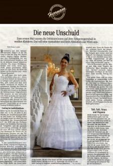 Wie jedes Jahr kreiert Uwe Herrmann die Kleider der Debütantinnen - Hochzeitsmode Dresden - Uwe Herrmann