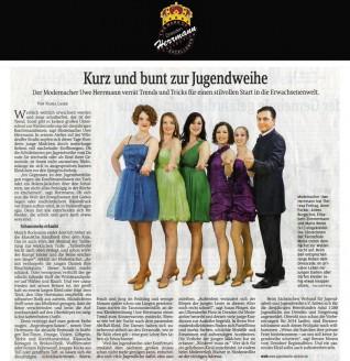 Der Modemacher Uwe Herrmann verrät Trends und Tricks für einen stilvollen Start in die Erwachsenenwelt - Hochzeitsmode Dresden - Uwe Herrmann