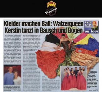 Designer Uwe Herrmann ließ für die Eleven der Tanzschule Weise die wundervollen Kleider anfertigen - Hochzeitsmode Dresden - Uwe Herrmann