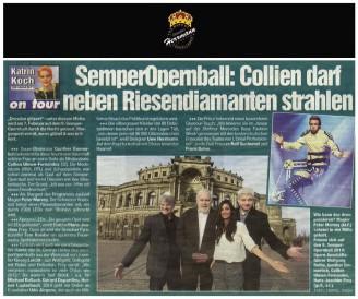 Modedesigner Uwe Herrmann zum Semperopernball mit Collien Ulmen Fernandes - Hochzeitsmode Dresden - Uwe Herrmann