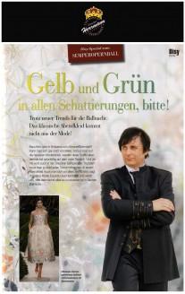 Modedesigner Uwe Hermann im Disy-Spezial zum Semperopernball - Hochzeitsmode Dresden - Uwe Herrmann