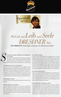 Uwe Herrmann, Modeschöpfer und Designer der Debütantinnen-Kleider - Hochzeitsmode Dresden - Uwe Herrmann