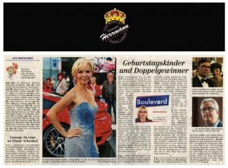 Andrea Kathrin Loewig auf dem Leipziger Operball mit Abendkleid vom Modedesigner Uwe Herrman - Hochzeitsmode Dresden - Uwe Herrmann