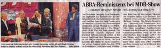 Abba Reminiszenz bei MDR-Show 2014 - Hochzeitsmode Dresden - Uwe Herrmann
