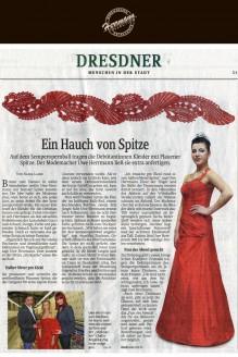 Ein Hauch von Plauener Spitze - Hochzeitsmode Dresden - Uwe Herrmann