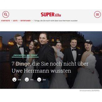 Superillu: 7 Dinge, die Sie noch nicht über Uwe Herrmann wussten - Hochzeitsmode Dresden - Uwe Herrmann