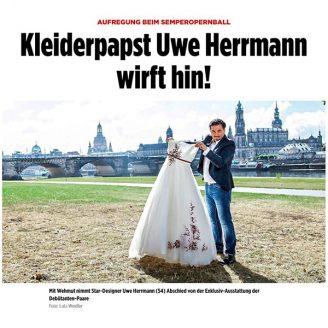 Bild: AUFREGUNG BEIM SEMPEROPERNBALL Kleiderpapst Uwe Herrmann wirft hin! - Hochzeitsmode Dresden - Uwe Herrmann