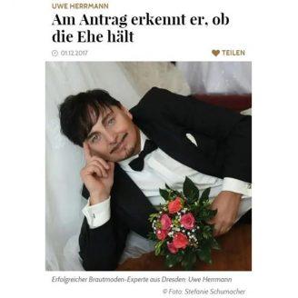 Gala: Am Antrag erkennt er, ob die Ehe hält - Hochzeitsmode Dresden - Uwe Herrmann