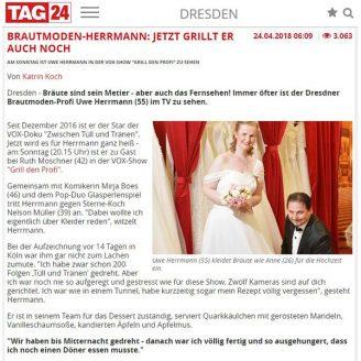 Tag24: BRAUTMODEN-HERRMANN: JETZT GRILLT ER AUCH NOCH - Hochzeitsmode Dresden - Uwe Herrmann