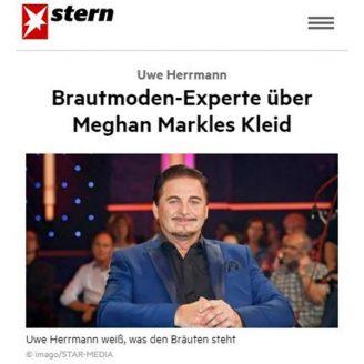 Stern: Brautmoden-Experte über Meghan Markles Kleid - Hochzeitsmode Dresden - Uwe Herrmann