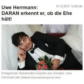 News: DARAN erkennt er, ob die Ehe hält! - Hochzeitsmode Dresden - Uwe Herrmann