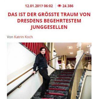Tag24: DAS IST DER GRÖSSTE TRAUM VON DRESDENS BEGEHRTESTEM JUNGGESELLEN - Hochzeitsmode Dresden - Uwe Herrmann