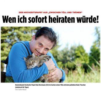 """Bild: DER HOCHZEITSPAPST AUS """"ZWISCHEN TÜLL UND TRÄNEN"""" Wen ich sofort heiraten würde! - Hochzeitsmode Dresden - Uwe Herrmann"""