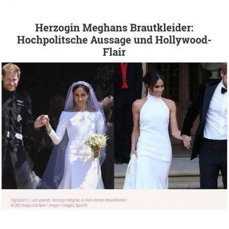 VIP: Herzogin Meghans Brautkleider: Hochpolitsche Aussage und Hollywood-Flair - Hochzeitsmode Dresden - Uwe Herrmann