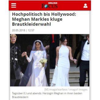 Focus: Hochpolitisch bis Hollywood: Meghan Markles kluge Brautkleiderwahl - Hochzeitsmode Dresden - Uwe Herrmann