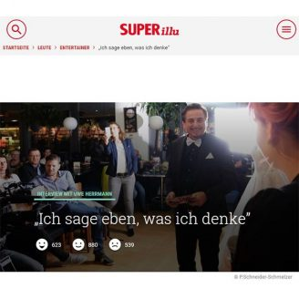 """Superillu: """"Ich sage eben, was ich denke"""" - Hochzeitsmode Dresden - Uwe Herrmann"""