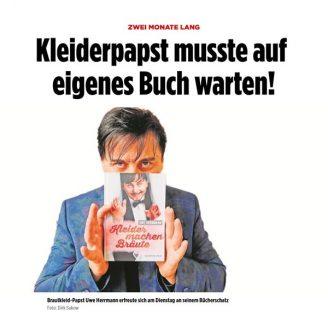 Bild: Kleiderpapst musste auf  eigenes Buch warten! - Hochzeitsmode Dresden - Uwe Herrmann