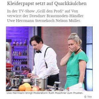SZ: Kleiderpapst setzt auf Quarkkäulchen - Hochzeitsmode Dresden - Uwe Herrmann