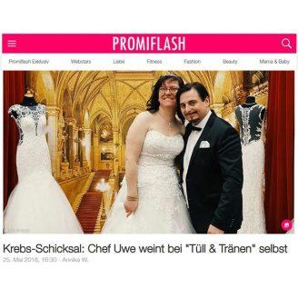 """Promiflash: Krebs-Schicksal: Chef Uwe weint bei """"Tüll & Tränen"""" selbst - Hochzeitsmode Dresden - Uwe Herrmann"""