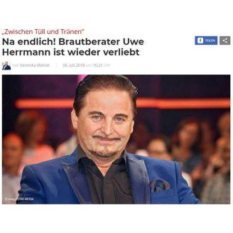 Bunte: Na endlich! Brautberater Uwe Herrmann ist wieder verliebt - Hochzeitsmode Dresden - Uwe Herrmann