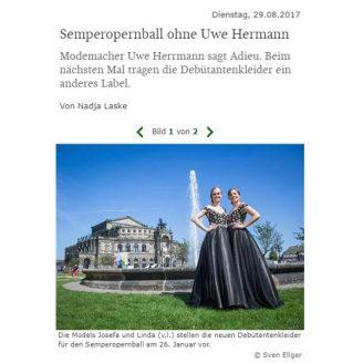 SZ: Semperopernball ohne Uwe Hermann - Hochzeitsmode Dresden - Uwe Herrmann
