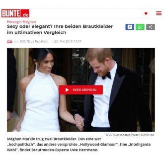 Bunte: Sexy oder elegant? Ihre beiden Brautkleider im ultimativen Vergleich - Hochzeitsmode Dresden - Uwe Herrmann