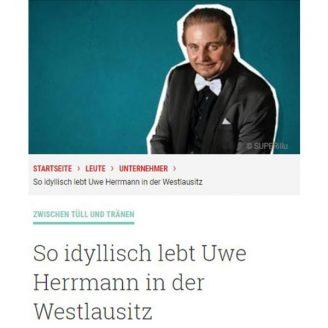 Superillu: So idyllisch lebt Uwe Herrmann in der Westlausitz - Hochzeitsmode Dresden - Uwe Herrmann