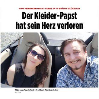 Bild: UWE HERRMANN MACHT SONST IM TV BRÄUTE GLÜCKLICH Der Kleider-Papst hat sein Herz verloren - Hochzeitsmode Dresden - Uwe Herrmann