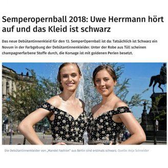 DNN: Semperopernball 2018: Uwe Herrmann hört auf und das Kleid ist schwarz - Hochzeitsmode Dresden - Uwe Herrmann