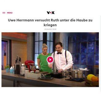 Vox: Uwe Herrmann versucht Ruth unter die Haube zu kriegen - Hochzeitsmode Dresden - Uwe Herrmann