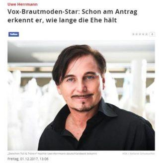 Focus: Vox-Brautmoden-Star: Schon am Antrag erkennt er, wie lange die Ehe hält - Hochzeitsmode Dresden - Uwe Herrmann