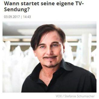Focus: Wann startet seine eigene TV-Sendung? - Hochzeitsmode Dresden - Uwe Herrmann