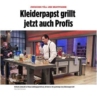 Bild: ZWISCHEN TÜLL UND BRATPFANNE Kleiderpapst grillt  jetzt auch Profis - Hochzeitsmode Dresden - Uwe Herrmann