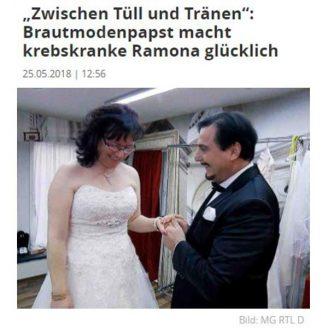 """Focus: """"Zwischen Tüll und Tränen"""": Brautmodenpapst macht krebskranke Ramona glücklich - Hochzeitsmode Dresden - Uwe Herrmann"""