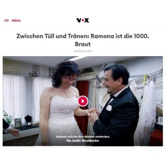 Vox: Zwischen Tüll und Tränen: Ramona ist die 1000. Braut - Hochzeitsmode Dresden - Uwe Herrmann