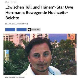 """Intouch.Wunderweib: """"Zwischen Tüll und Tränen""""-Star Uwe Herrmann: Bewegende Hochzeits-Beichte - Hochzeitsmode Dresden - Uwe Herrmann"""