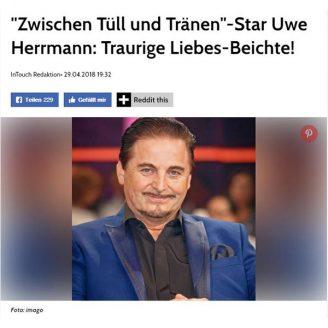 """Intouch.Wunderweib: """"Zwischen Tüll und Tränen""""-Star Uwe Herrmann: Traurige Liebes-Beichte! - Hochzeitsmode Dresden - Uwe Herrmann"""