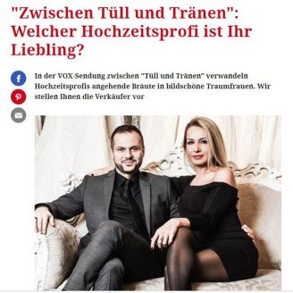 """Freundin: """"Zwischen Tüll und Tränen"""": Welcher Hochzeitsprofi ist Ihr Liebling? - Hochzeitsmode Dresden - Uwe Herrmann"""