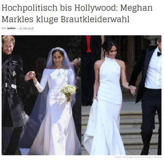 Trendmagazin: Hochpolitisch bis Hollywood: Meghan Markles kluge Brautkleiderwahl - Hochzeitsmode Dresden - Uwe Herrmann